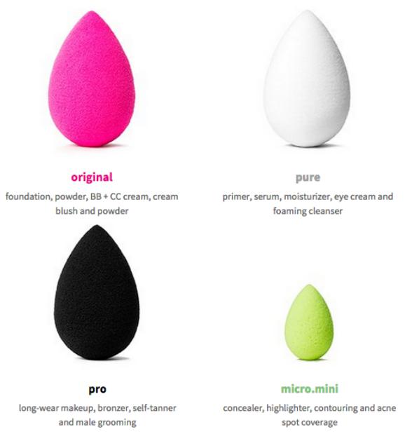De verschillende BeautyBlender's
